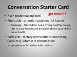 conversation starter card