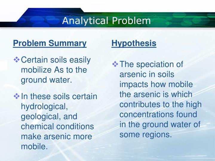 Analytical Problem