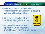 greatest mass poisoning in history