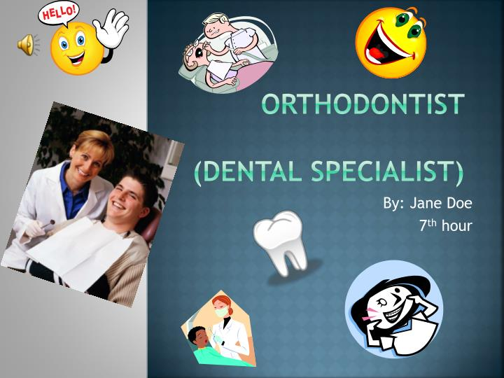 Orthodontist dental specialist