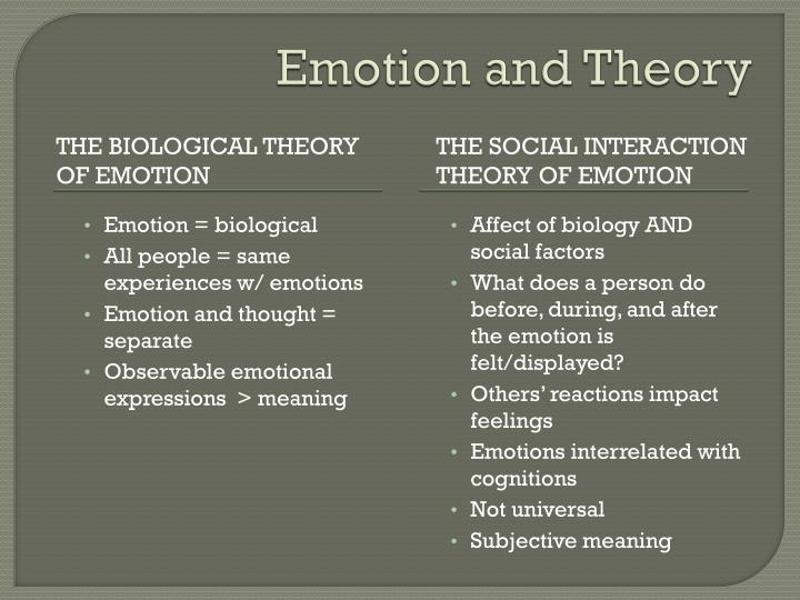 Emotion and Theory