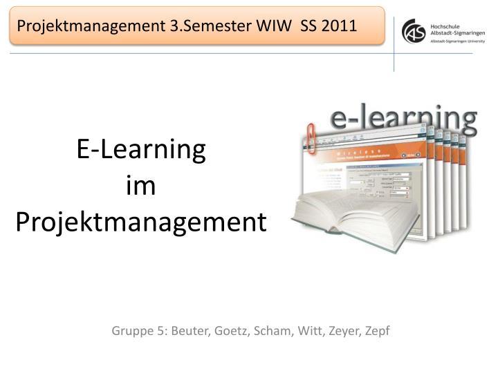 E learning im projektmanagement