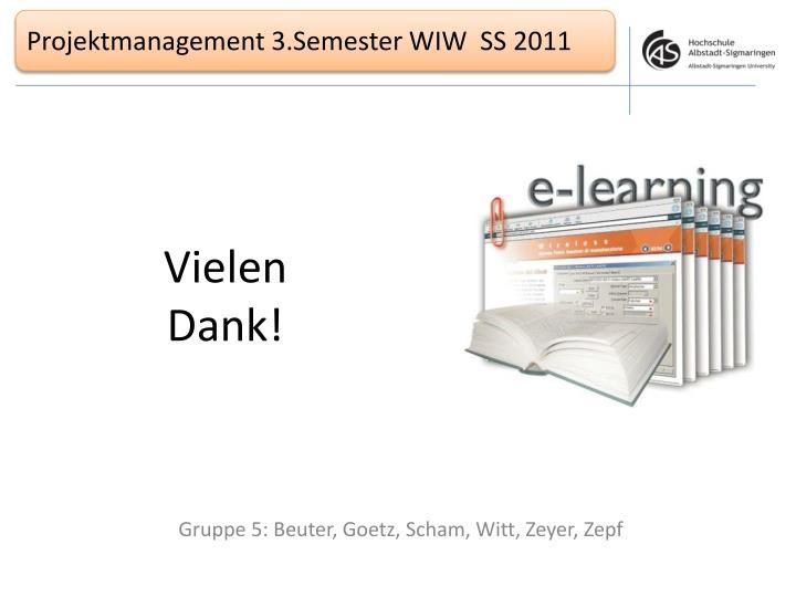 Projektmanagement 3.Semester WIW