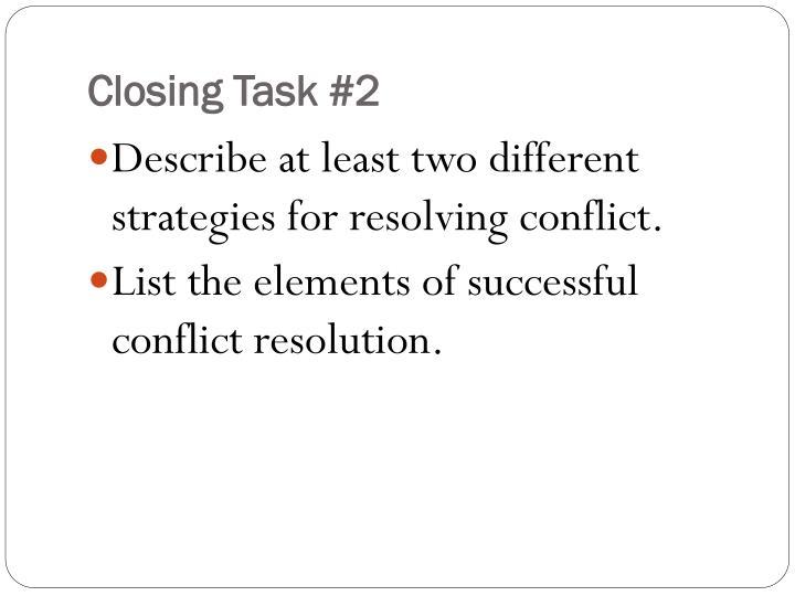 Closing Task #2