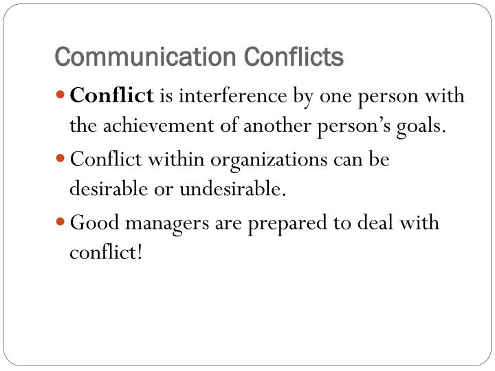 Communication Conflicts