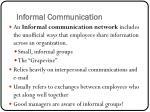 informal communication