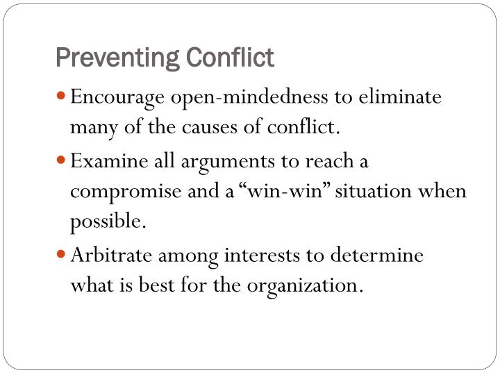Preventing Conflict