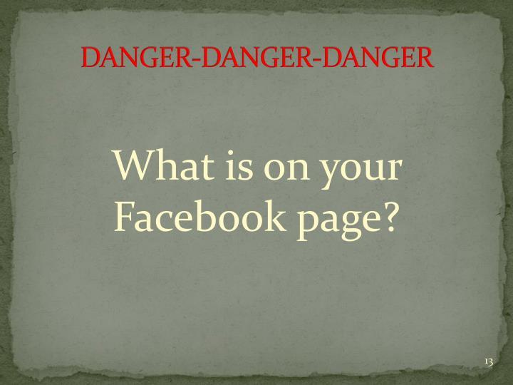 DANGER-DANGER-DANGER