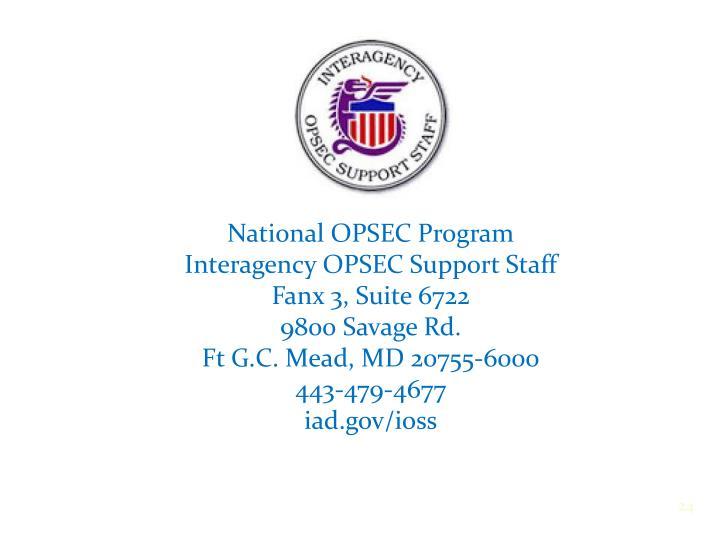National OPSEC Program