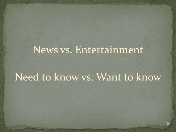 News vs. Entertainment