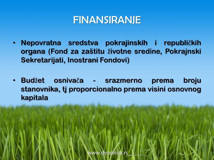FINANSIRANJE