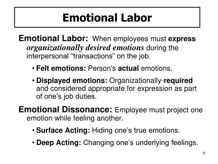 Emotional Labor