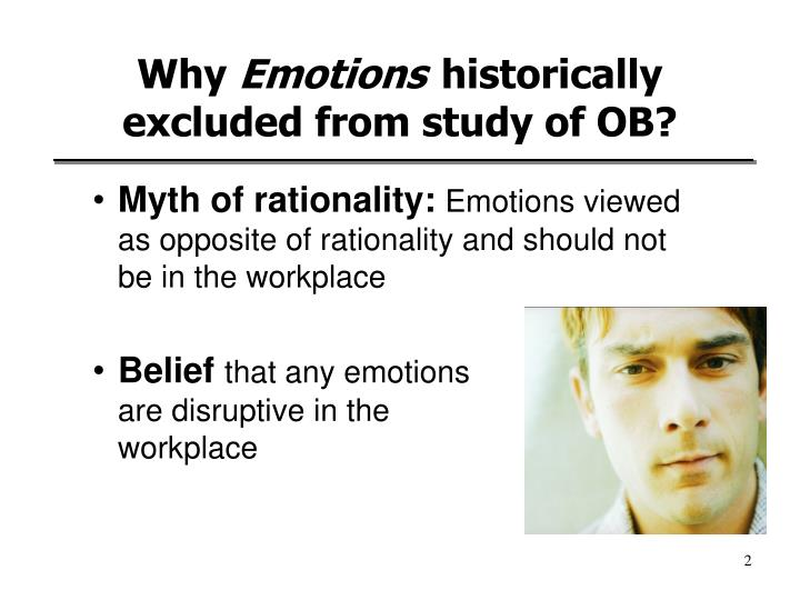 Why emotions historically excluded from study of ob