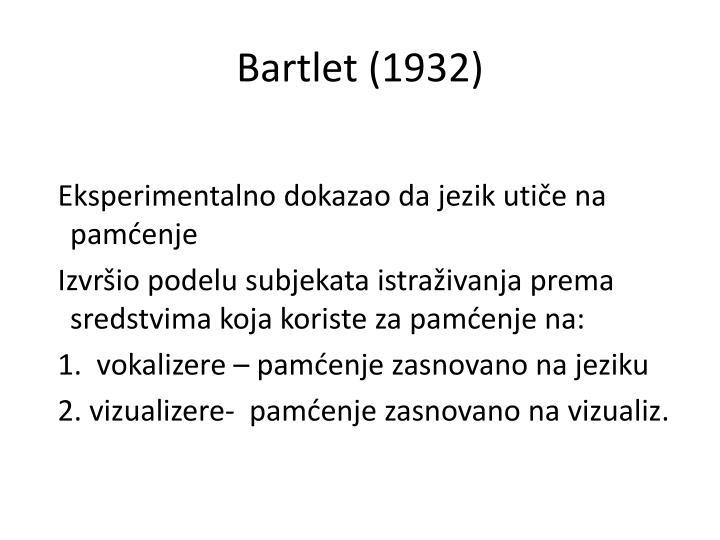 Bartlet (1932)