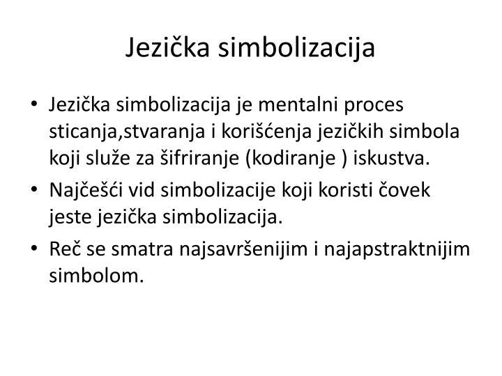 Jezička simbolizacija