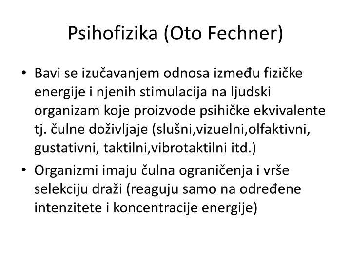 Psihofizika (Oto Fechner)