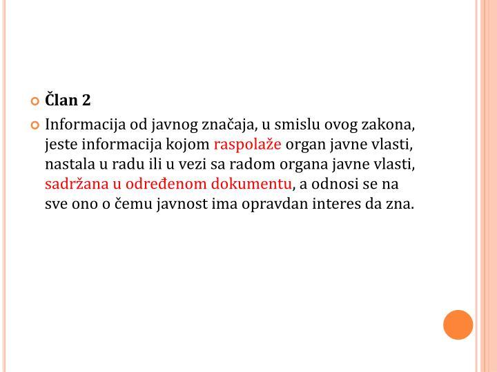 Član 2