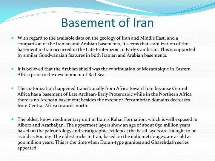 Basement of Iran