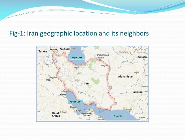 Fig-1: Iran geographic location and its neighbors