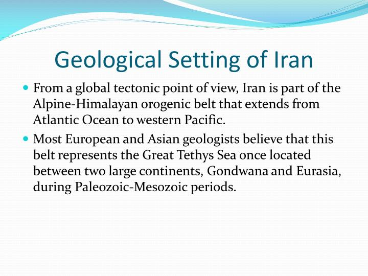 Geological Setting of Iran