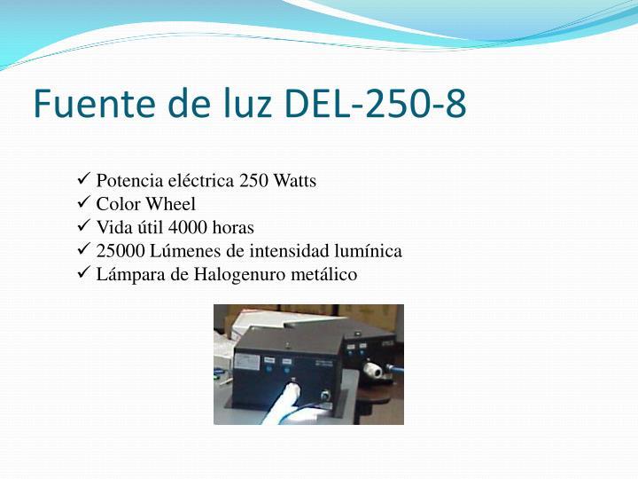 Fuente de luz DEL-250-8