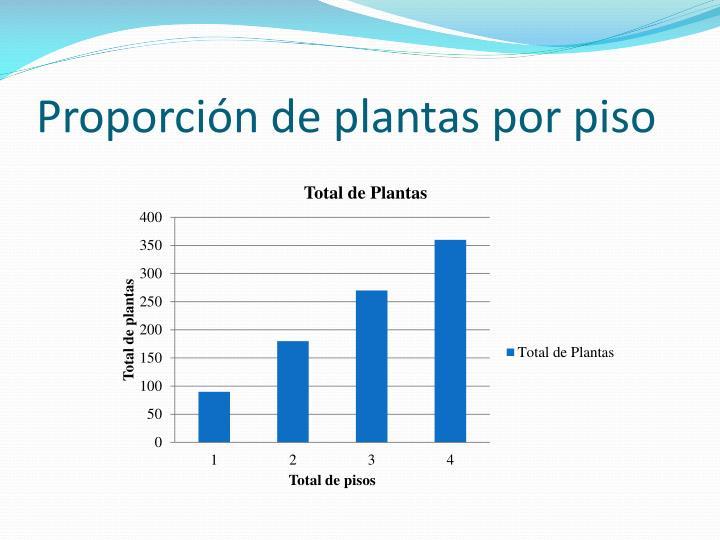 Proporción de plantas por piso
