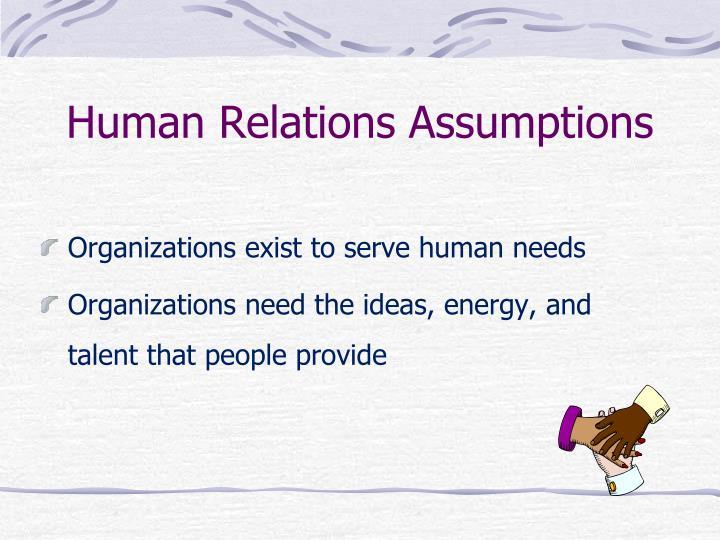 Human Relations Assumptions