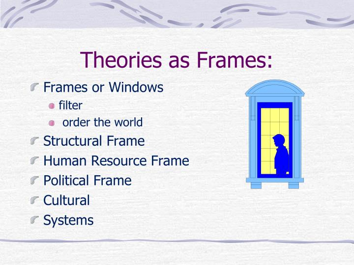 Theories as frames