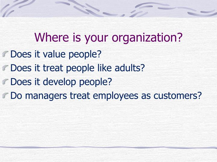 Where is your organization?