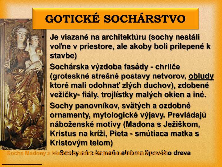 GOTICKÉ SOCHÁRSTVO