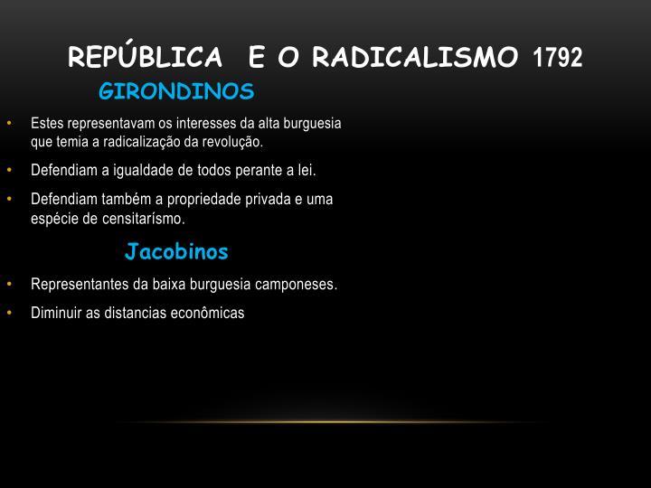 República  e o radicalismo