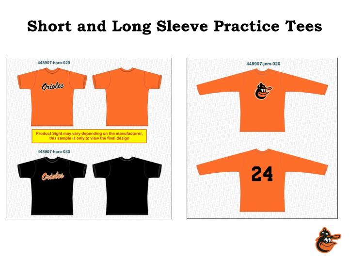Short and Long Sleeve Practice Tees