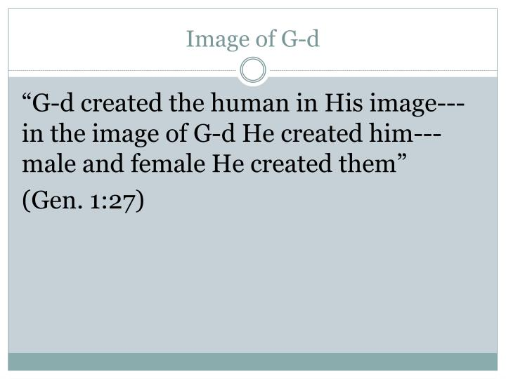 Image of G-d