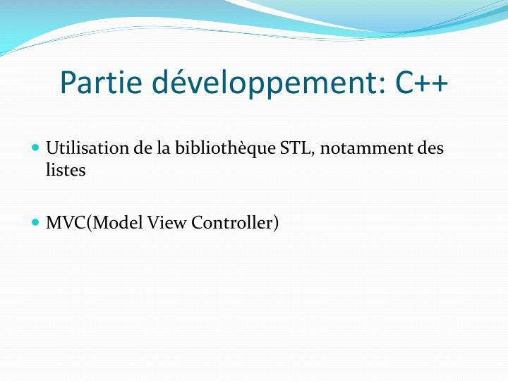 Partie développement: C++