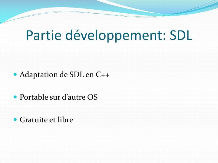 Partie développement: SDL