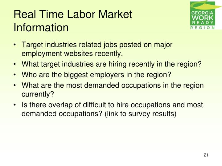Real Time Labor Market Information