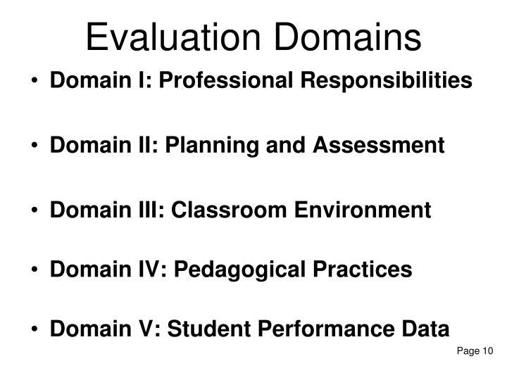 Evaluation Domains
