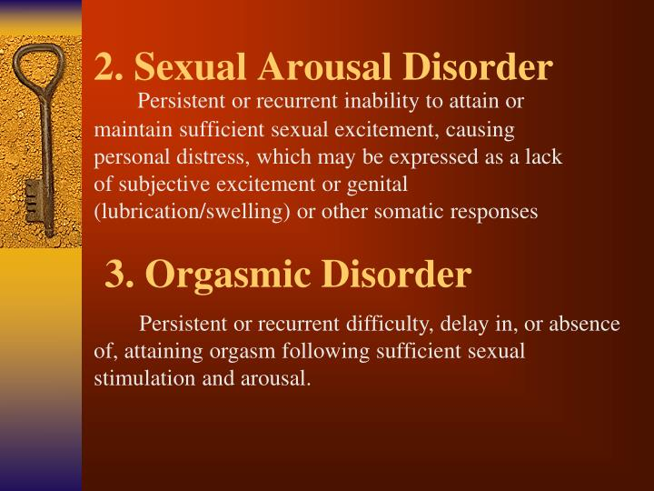 2. Sexual Arousal Disorder