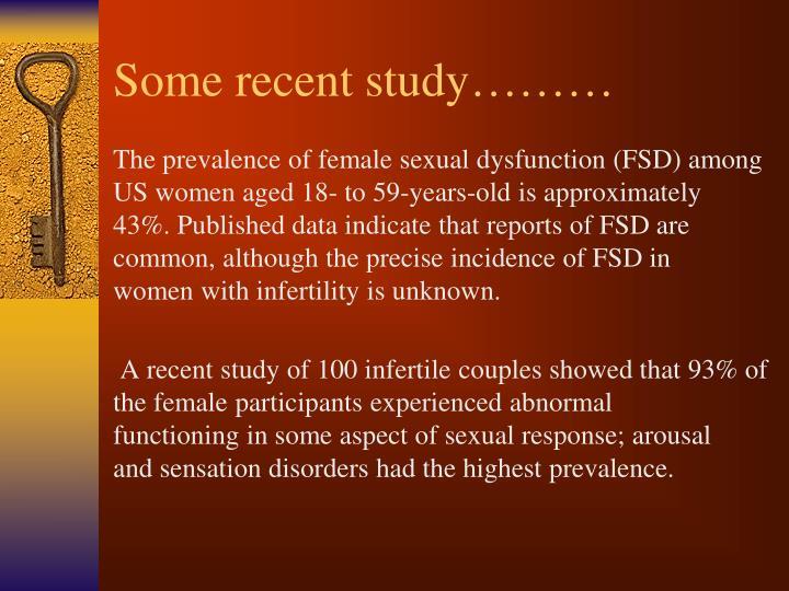 Some recent study………