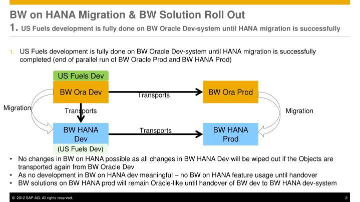 BW on HANA Migration & BW Solution