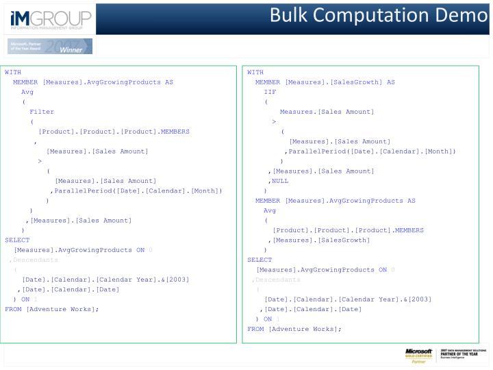 Bulk Computation Demo