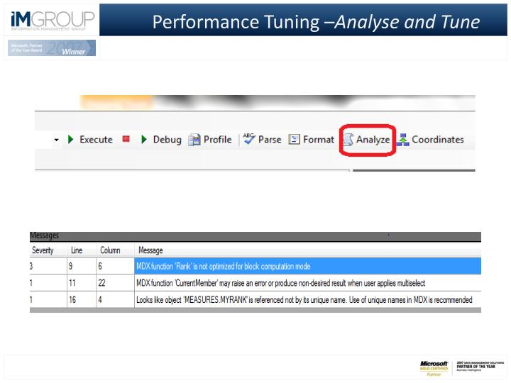 Performance Tuning –