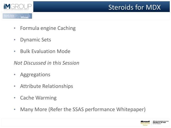 Steroids for MDX
