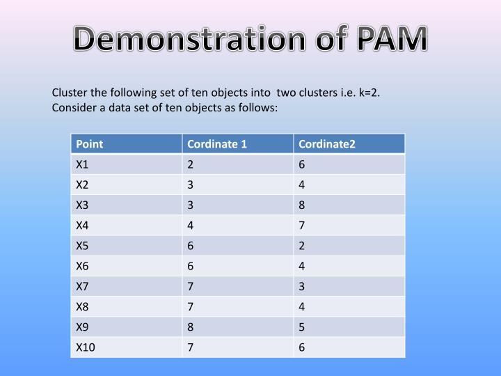 Demonstration of PAM