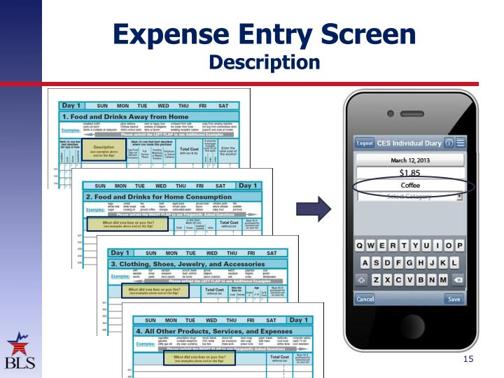 Expense Entry Screen