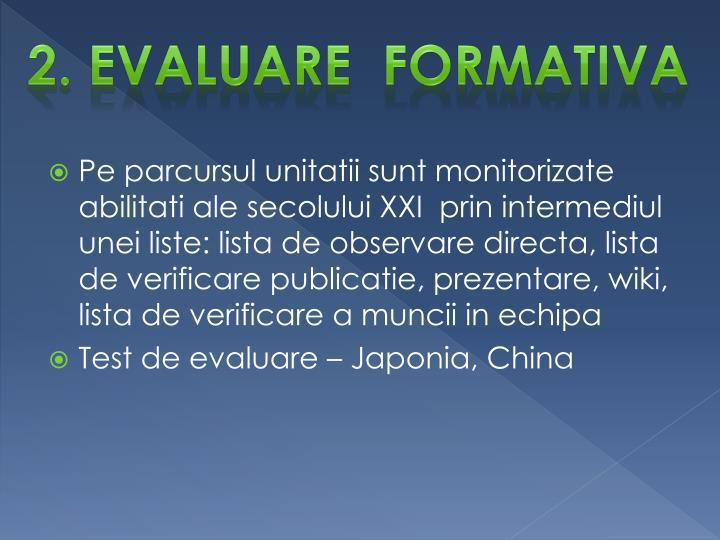 2. Evaluare  formativa