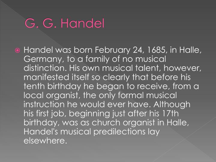 G. G. Handel
