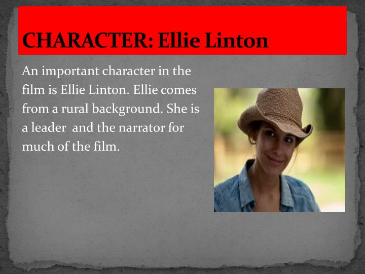 CHARACTER: Ellie Linton