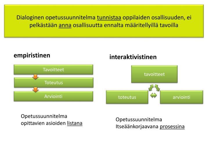 Dialoginen opetussuunnitelma