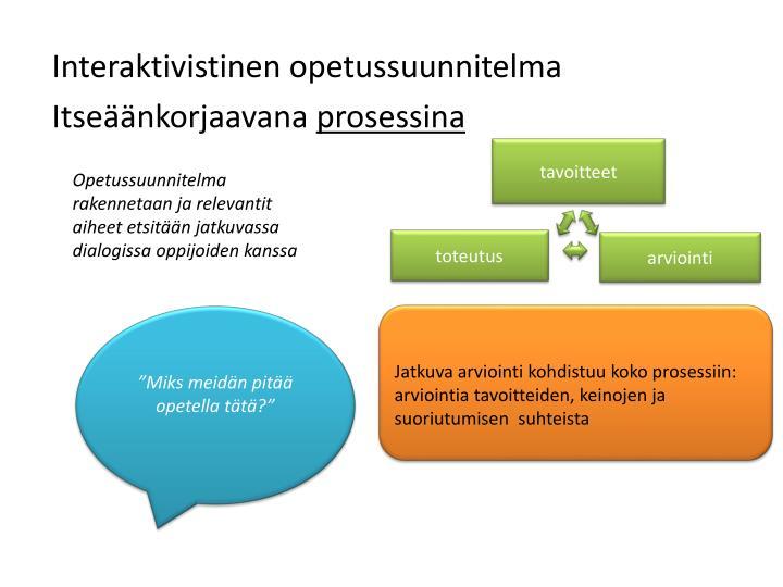 Interaktivistinen opetussuunnitelma